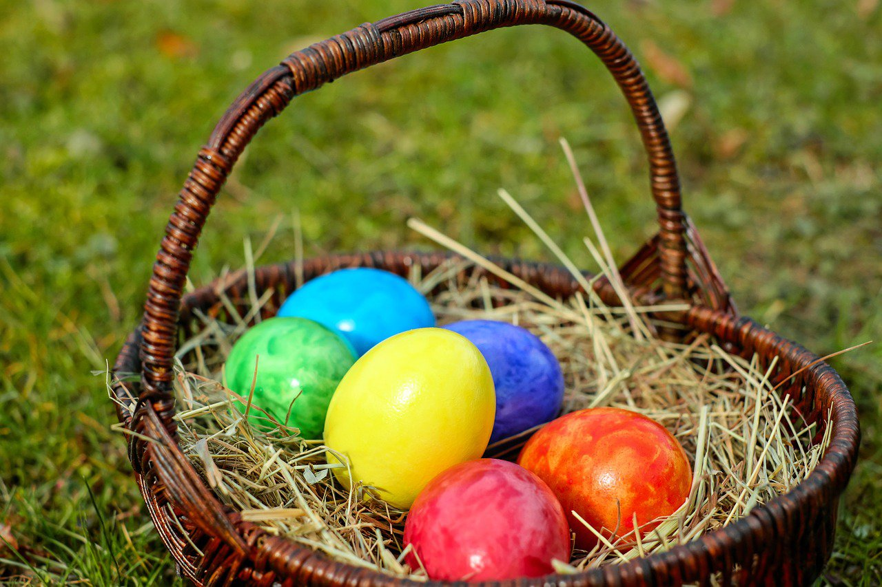 huevos pascua primavera